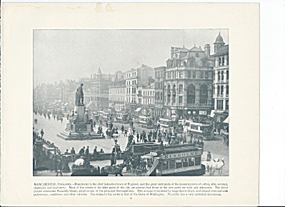 Piccadilly St., Manchester England 1892 Shepp's Photographs Book Page