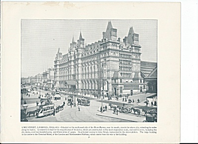 Lime Street, Liverpool England 1892 Shepp's Photographs Book Page