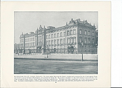 Buckingham Palace, London, England 1892 Shepp's Photographs Book Pg