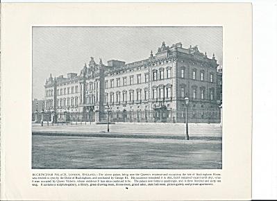 Buckingham Palace, London, England 1892 Shepp's Photographs Book Pg (Image1)