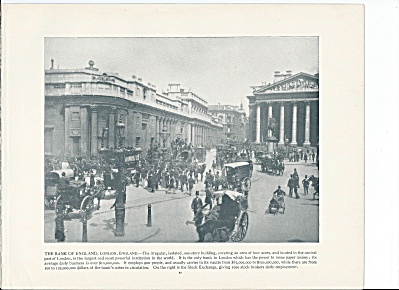 The Bank of England, London 1892 Shepp's Photographs Book Page (Image1)