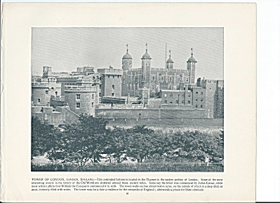 Tower Of London, England 1892 Shepp's Photographs Book Page