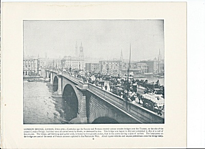 London Bridge, England 1892 Shepp's Photographs Book Page