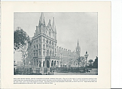 Midland Grand Hotel, St. Pancras Station England 1892 Shepp's Photo Pg (Image1)