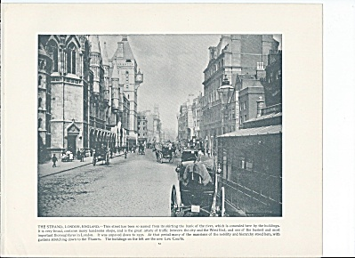 The Strand, London, England 1892 Shepp's Photographs Book Page (Image1)