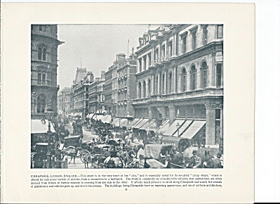 Cheapside, Street, London, England 1892 Shepp's Photographs Book Page