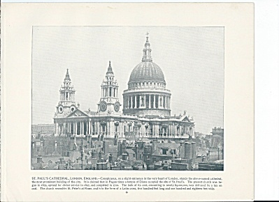 St. Paul's Cathedral, London, England 1892 Shepp's Photo Book Page