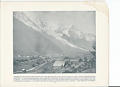 Chamounix & Mont Blanc, French Alps, Switzerland 1892 Shepp's Photos