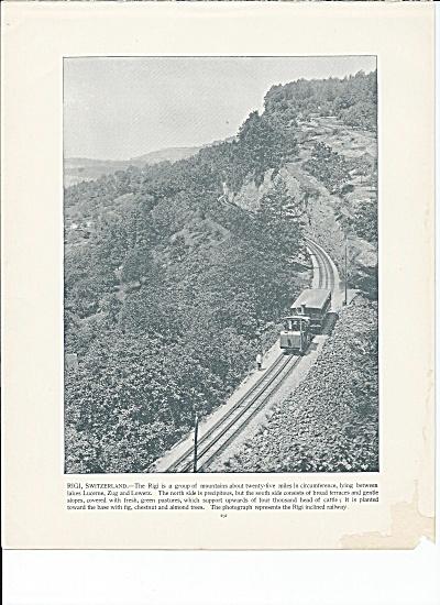 Inclined Railway, Rigi, Switzerland 1892 Shepp's Photographs Book Page (Image1)
