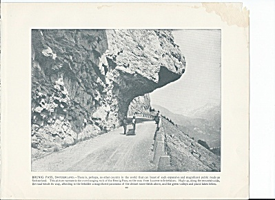 Brunig Pass, Switzerland 1892 Shepp's Photographs Original Book Page