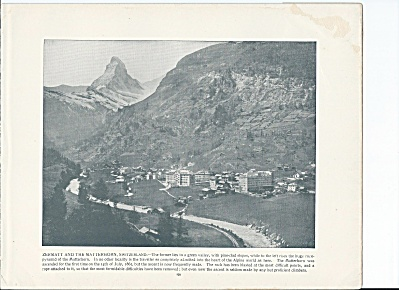 Zermatt & The Matterhorn, Switzerland 1892 Shepp's Photos Book Page