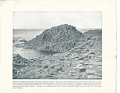 Giant's Causeway, Ireland 1892 Shepp's Photographs Original Book Page