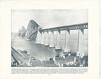 Forth Bridge, Scotland 1892 Shepp's Photographs Original Book Page