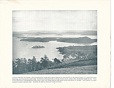 Loch Lomond, Scotland 1892 Shepp's Photographs Original Book Page