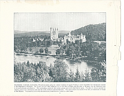 Balmoral Castle, Scotland 1892 Shepp's Photographs Original Book Page