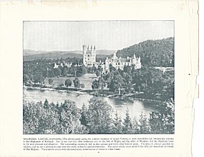 Balmoral Castle, Scotland 1892 Shepp's Photographs Original Book Page (Image1)