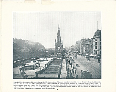 Princess Street, Edinburgh, Scotland 1892 Shepp's Photographs Book Pg