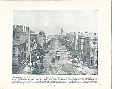 Collins Street, Melbourne, Australia 1892 Shepp's Photos Book Page (Image1)