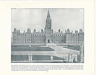 Parliament Buildings, Ottawa, Canada 1892 Shepp's Photographs Bk Pg