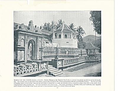 Temple Of The Tooth, Kandy, Ceylon, Sri Lanka 1892 Shepp's Photos Page