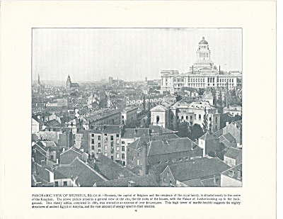 Brussels, Belgium, 1892 Shepp's Photographs Original Book Page (Image1)