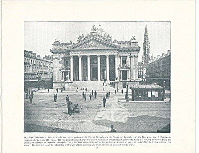 The Bourse, Brussels, Belgium, 1892 Shepp's Photographs Book Page (Image1)