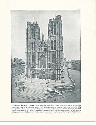 Cathedral Of Ste. Gudule, Brussels, Belgium, 1892 Shepp's Photos Bk Pg