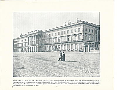 Palace of the King, Brussels, Belgium, 1892 Shepp's Photos Book Page (Image1)