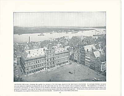 Antwerp, Belgium, 1892 Shepp's Photographs Original Book Page