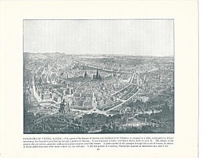 Panorama of Vienna, Austria 1892 Shepp's Photographs Book Page (Image1)