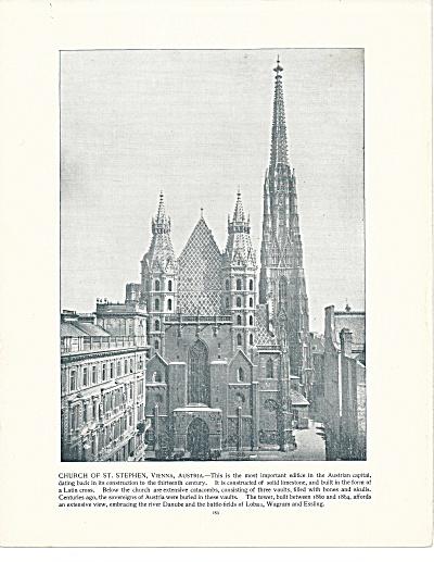 Church of St. Stephen, Vienna, Austria 1892 Shepp's Photos Book Page (Image1)