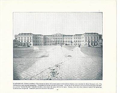 Schonbrunn Palace, Vienna, Austria 1892 Shepp's Photographs Book Page (Image1)