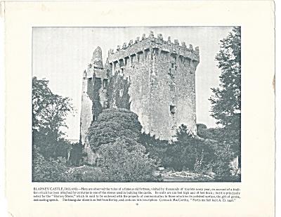 Blarney Castle, Ireland 1892 Shepp's Photographs Original Book Page (Image1)