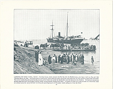 The Suez Canal, Egypt 1892 Shepp's Photographs Original Book Page