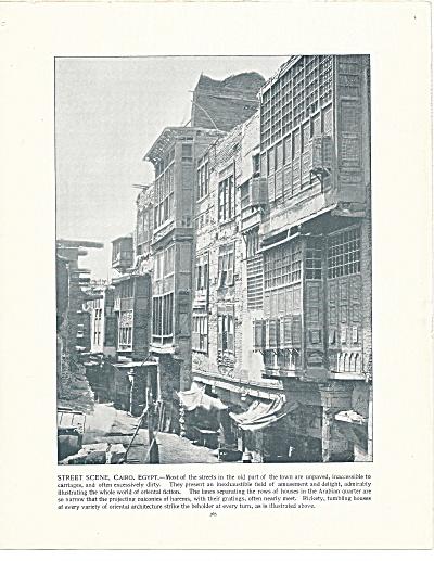 Street Scene, Cairo, Egypt 1892 Shepp's Photographs Original Book Page (Image1)