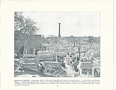Cemetery, Alexandria, Egypt 1892 Shepp's Photographs Book Page (Image1)
