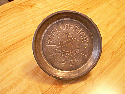 Vintage Mrs. Smith's Mello-rich Pies Tin Pie Plate A