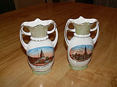 2 Germany Souvenir China Philadelphia, Pa Independence Hall, City Hall