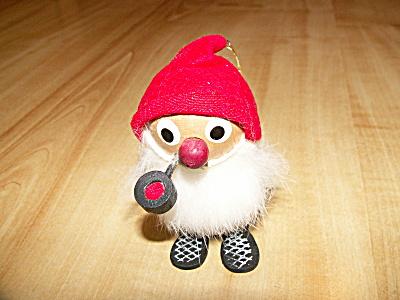 Vtg 1960s Japan Kurt Adler Christmas Ornament Bearded Gnome Elf Pipe (Image1)
