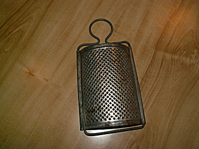 Vintage Curved Half Moon Grater Shredder Kitchen Utensil