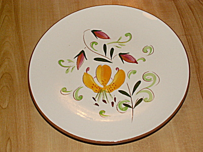1958 Stangl Pottery Floral Tiger Lily 8 Inch Dessert Plate #3965