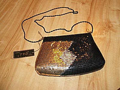 Vintage Y&S Original Mesh Crossbody Hipster Handbag Purse Tri-color (Image1)
