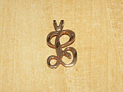 Lovely Vintage Marked 14k Yellow Gold Script L Initial Pendant Jewelry