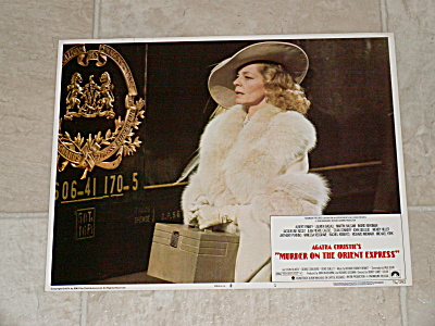 1974 Movie Lobby Card Agatha Christie Murder On The Orient Express #1