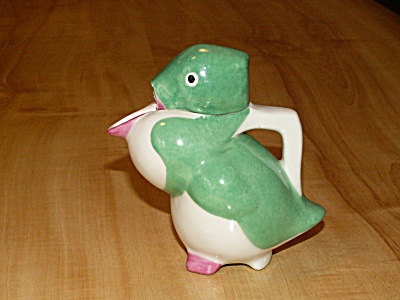 Rare Edouard Sandoz Theodore Haviland Limoges Duck Pitcher As Is (Image1)