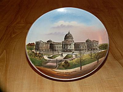 Vintage PA Harrisburg State Capitol Bldg Souvenir China Jonroth Plate  (Image1)