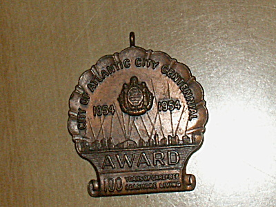 1954 Medal Decathlon Atlantic City Nj Centennial Sports Track Field