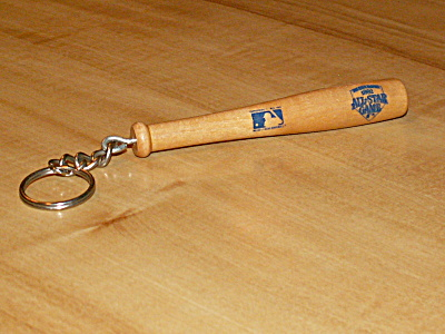 1992 Major League Baseball All Star Game San Diego Bat Key Chain Ring