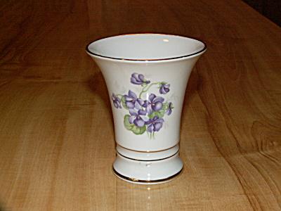 Vintage Schumann China Arzberg Germany Purple Violets Vase Flowers (Image1)