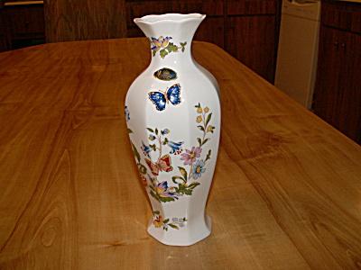 Lovely Tall Aynsley Bone China Cottage Garden Vase 9 In.Foil Label (Image1)